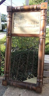 Antique Currier & Ives Summer in the Country Print Hitchcock Style Mirror Frame*