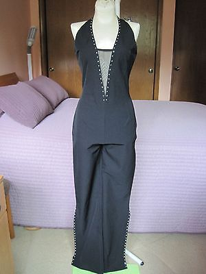 3dc62be6cd0b WOMENS BLACK STUDDED Jumper  Pants Outfit Size XL -  2.99