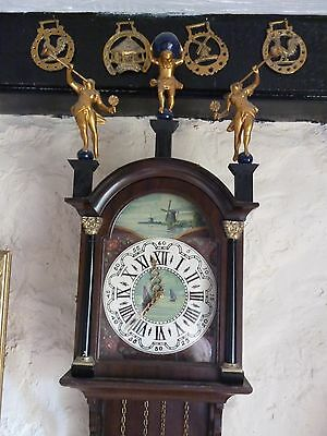 traditional long-case vintage dutch wall clock