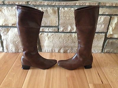Vintage Mod Go Go Boots Brown New