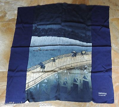 Vintage Silk Tapestry (or scarf) Ohashi and Atake thunderstorm by Hiroshige Ando