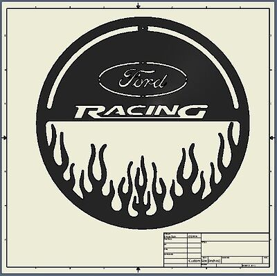 cnc dxf file ( ford_racing )