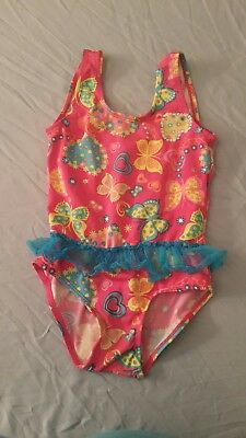 girls pink butterfly swim suit size 4t