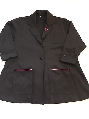 Mary Kay Consultant Beauty Smock Lab Coat Black & pink S/M Read description
