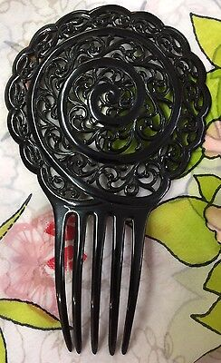Black Early Plastic Hair Comb