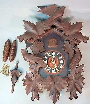 Antique German Black Forest Bavarian Cuckoo Clock
