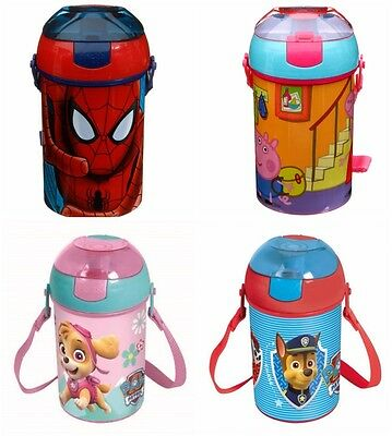 New Kids Character Pop Up Drinks Canteen/flask/bottle Water/juice Carry Handle