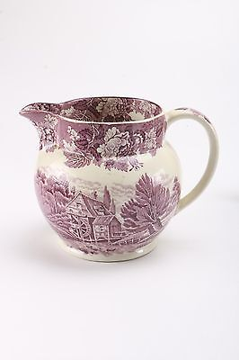 Enoch Woods English Scenery 48 Ounce Purple Pitcher by Wood & Sons Ralph Enoch