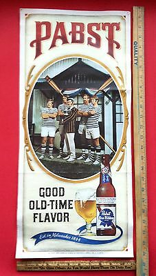 Vintage 1960's Pabst Blue Ribbon Rowing Crew Sign RARE PBR Sign