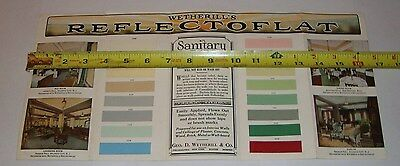 Vintage 1930's George D Wetherill Reflectoflat Paint Sample Color Chart Brochure