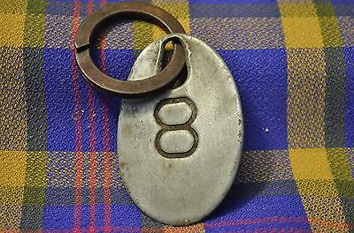Vintage Aluminum #8 Double Sided Cow Tag-Nonmagnetic
