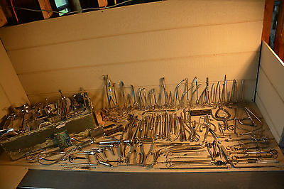 Antique Doctor's Surgical Tool Lot w Sterilizer 138+ pieces - Medical Surgeon