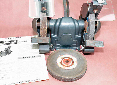 Bench Grinder Model PC-5153, 3 wheels, belt, owners guide & parts list ~ 70's