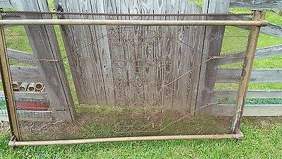 Rare Antique Wire metal Woven mesh bed frame springs 1800's Mattress base