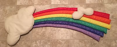 Vintage 1980's Big Rainbow  Baby Nursery Plush Wall Decor Cloud Russ