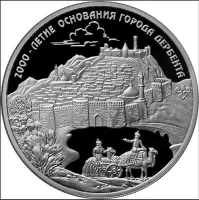 2015 RUSSIA 3 R RUBLE SILVER PROOF 2000 Years of Derbent