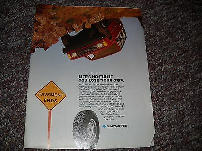 1990 Sumitomo Tire Isuzu Trooper Ad Advertisement  Poster