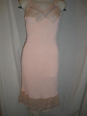 Vintage full slip/night gown no tags PINK lacy trims