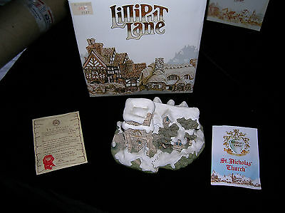 Lilliput Lane  Cottages .  St. Nicholas Church. New in Box with Deed