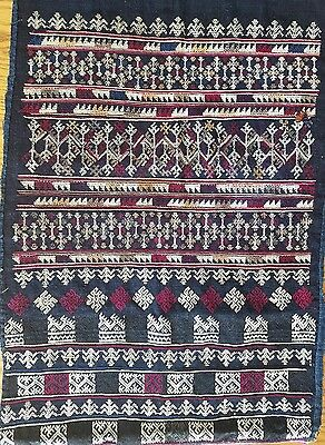 Mid-Century Yao Mien Laos China Thailand Vietnam Embroidered Trouser Panel
