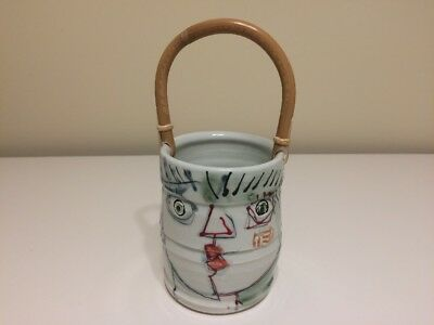 Rare Signed Stamped Japanese Pottery Ceramic Figural Banko Style Tea Pot