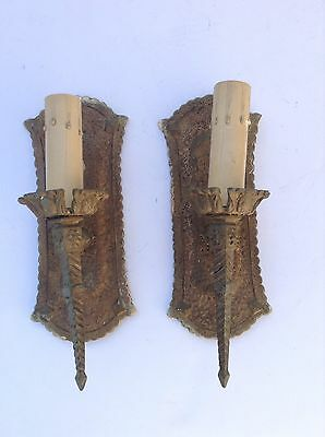 Pair Of Vintage Gothic Wall Sconces (#3)