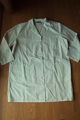 Crest White Button Down Cotton Blend Scrub Lab Coat Jacket Size 2XL