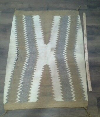 "Early Navajo Saddle Blanket 43"" x 30"""