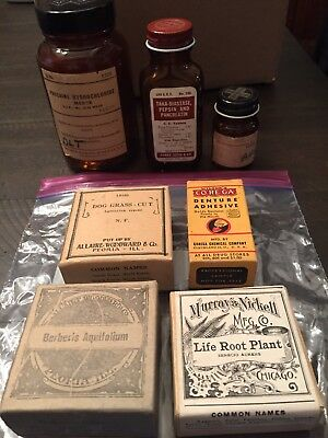 Assorted Lot Of Medicine Bottles And Herbal Homeopathic Remedies Merck Life Root