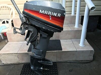 outboard motor Mariner 9.9 Hp ? 2 Stroke Short Shaft Sold For Parts Or Repairs