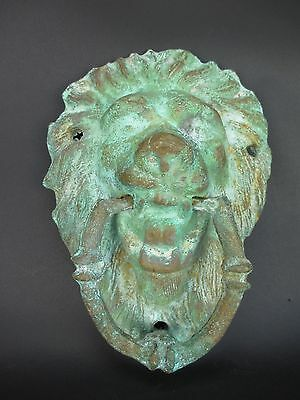 Vintage Cast Brass Lion Head Door Knocker