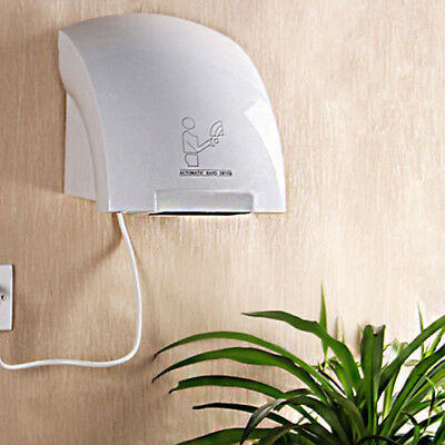220V Hand Dryer Wall Mounted Fast Electric Automatic Warm Air Drier Toilet Hotel