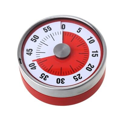 Stainless Steel Magnets Fridge 8CM Kitchen Timer Clock Mechanical Reminder Sport