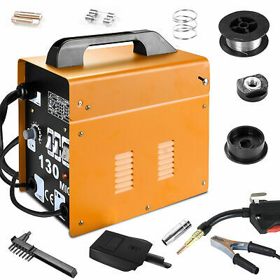MIG 130 Gas-Less Flux Core Wire Welder Welding Machine Automatic Feed Kit w Mask