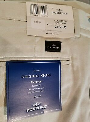 Dockers pants NWT size 38x32 off white ivory Classic fit