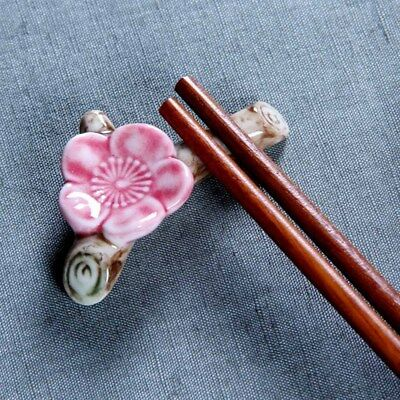 Nice Ceramic Ware Plum Blossom Chopstick Rest Porcelain Holder Stand party Decor
