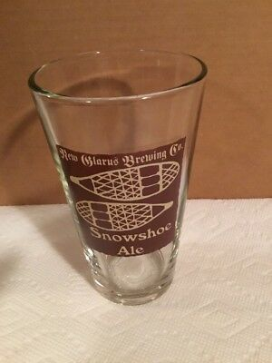 New Glarus Brewing Co Snowshoe Ale Pint Beer Glass