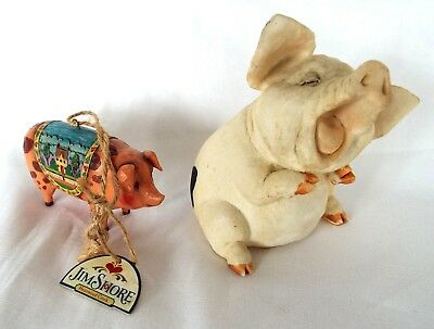 Spotted Pig Figurine Jim Shore Hand Painted Enesco Ornament 2006 Heartwood Creek