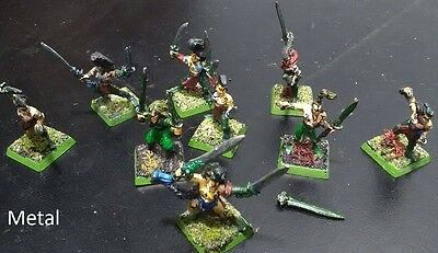 Lot 4: 9 painted Wood elf Wardancers