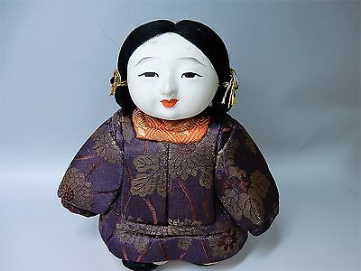 RARE JAPANESE Ancient Classical Ceramic Gofun Goshou Doll Ningyo H17cm 6.7""