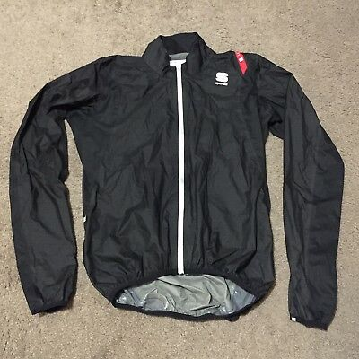 SPORTFUL HOT PACK RAIN JACKET BLACK SIZE SMALL AS NEW cycling