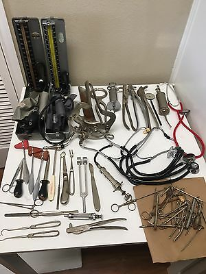 Lot Vintage Antique Medical Dental Tools Surgical Supplies