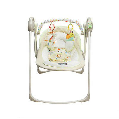 Baby Kid Cradle Sleep Musical Rocking Chair Electric Swing Bouncer Crib Motion