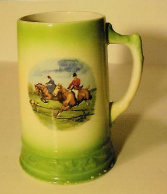 Antique FOX HUNT Hunting SCENE Mug (Royal Firenze China) $9.99 Porcelain LQQK!!!