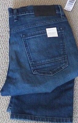New Mens Kenneth Cole Straight Stretch Light Wash Jeans Stretch 32 X 32