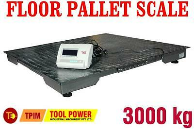 Floor Pallet Scale MILLERS FALLS 3000kg 1.5 x 1.5 Meters = SOILED Packaging+++++
