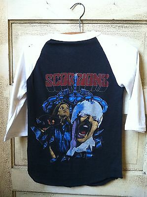 Vintage Scorpions t shirt World Tour 1984 made in USA Blackout Animal Magnetism