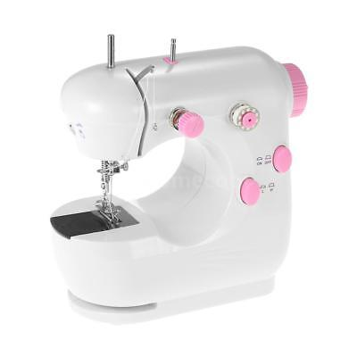 Mini Electric Household Sewing Machine Double Speed Foot Pedal LED Light R4Z7