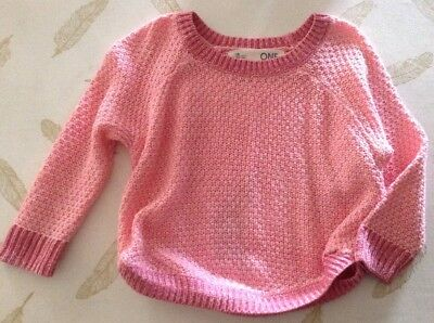 Cotton On Kids Girls Knit Jumper Size 1