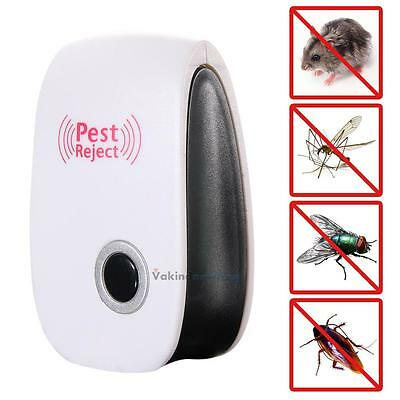 Ultrasonic Electronic Indoor Anti Mosquito Rat Mice Pest Bug Reject Repeller